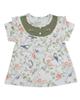 - پیراهن نوزادیدخترانه نیلی مدلSparrow 545-سفید سبز-طرح گل وپرنده