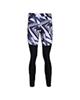 - لگینگ ورزشی زنانه کد UN057W2 - مشکی سفید - طرح دار