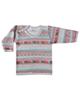 نیروان تی شرت آستین بلند نوزادی طرح گلیم - سنتی