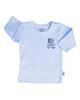 آدمک تی شرت آستین بلند نوزادی طرح خرس رنگ آبی - نخ