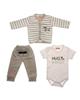 - ست 3 تکه لباس نوزادی طرح راکون کد t77285493   -14109874507