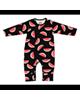 لباس نوزادی - سرهمی نوزاد باولی مدل یلدا - مشکی - طرح هندوانه