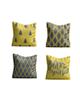 - کاور کوسن کد SWT06 مجموعه 4 عددی - خاکستری زرد - طرح دار