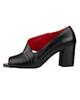 مارال چرم کفش پاشنه بلند زنانه مدل 0207 - مشکی - چرم طبیعی - مجلسی