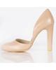 چرم مشهد کفش زنانه مدل CH-MA-01 - کرم - پاشنه بلند - مجلسی