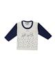 - تی شرت آستین بلند نوزادی مدل 988584NA - سفید سرمه ای