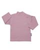 آدمک تی شرت آستین بلند نوزادی کد 03-144601 - راه راه یاسی قرمز - نخ
