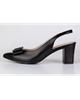 چرم مشهد کفش زنانه تابستانی مدل J2392 -مشکی - چرم طبیعی- پاشنه بلند مجلسی