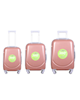 - مجموعه سه عددی چمدان مدل 300H - رزگلد - پلی کربنات