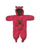 لباس نوزادی - سرهمی نوزادی طرح Bear کد G101 - قرمز - طرح خالخالی و خرس