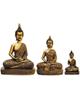 - مجسمه روشا مدل بودا  مجموعه 3 عددی