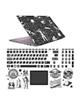 - استیکر لپ تاپ صالسو آرت مدل 5083 hk + برچسب حروف فارسی کیبورد