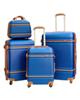 - مجموعه 4 عددی چمدان اسکای برد مدل C005 - آبی با خط های عسلی