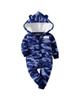 Carters سرهمی نوزادی کد K84 رنگ آبی - طرح دار - کلاه دار