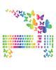 صالسو آرت استیکر لپ تاپ مدل 13 hk به همراه برچسب کیبورد - رنگین کمانی