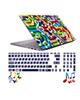 صالسو آرت استیکر لپ تاپ مدل 5032 hk به همراه برچسب حروف فارسی کیبورد