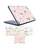 - استیکر لپ تاپ طرح فلامینگو کد02 به همراه برچسب حروف فارسی کیبورد