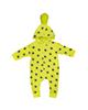 لباس نوزادی - سرهمی نوزادی کد c23 - زرد طرح ستاره سرمه ای