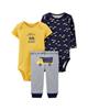لباس نوزادی - ست 3 تکه لباس نوزادی پسرانه کد 10130