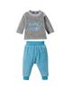 lupilu ست تی شرت و شلوار پسرانه کد lusbp121 - طوسی آبی