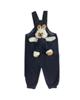 - سرهمی نوزادی مدل LIN1003E - سرمه ای تیره - خالخالی طرح خرگوش