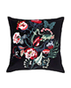 IKEA کوسن مدل Saralena - مربع 50*50 - زمینه مشکی طرح گل رنگارنگ