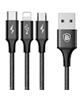 Baseus کابل تبدیلUSBبه microUSB/لایتنینگ/USB-C مدلRapid Seriesطول1.2متر