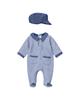 Fiorella سرهمی نوزادی پسرانه مدل پرشان کد 2969 - آبی تیره