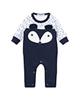 لباس نوزادی - سرهمی نوزادی پسرانه فیورلا مدل راکن کد 2927 - سرمه ای سفید