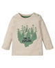 lupilu تی شرت آستین بلند نوزادی مدل IAN-318119 - شیری - طرح درخت