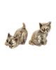 - مجسمه برنجی مدل گربه کد 002 مجموعه 2 عددی