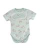 polonyx بادی آستین کوتاه نوزادی دخترانه کد 02-11812 - سفید با گل صورتی