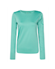 RNS تیشرت ورزشی زنانه کد 103043 - سبز آبی - ساده - آستین بلند