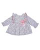 Fiorella پیراهن نوزادی دخترانه مدل 21210  - سفید صورتی - گل دار