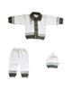 - ست 3 تکه لباس بافت نوزادی مدل KI_BI_SET3-9 - سفید خاکستری