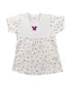 لباس نوزادی - تیشرت آستین کوتاه نوزادی دخترانه نیروان طرح فرشته - سفید