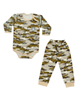 لباس نوزادی - ست 2 تکه لباس نوزادی طرح چریکی کد 23