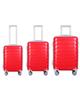 - مجموعه سه عددی چمدان مدل 10021 - قرمز روشن