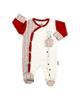 لباس نوزادی - سرهمی نوزادی جورابدار آدمک طرح خرس توپی 02 - سفیدقرمز