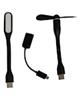 - پنکه همراه mini USB مدل Mb-68+ چراغ ال ای دی و مبدل OTG microUSB