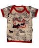 آدمک تی شرت آستین کوتاه نوزادی مدل Dog - نسکافه ای مشکی قرمز