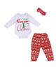 - ست 3 تکه لباس نوزادی کد 40 - سفید قرمز