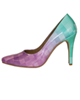 - کفش زنانه مدل 125 - صورتی سبز - پاشنه بلند - مجلسی