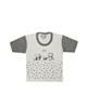 - تی شرت آستین کوتاه نوزادی مدل 988830GY - سفید خاکستری