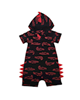 لباس نوزادی - سرهمی نوزادی کد 12 - سرمه ای قرمز - طرح تمساح