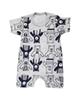- سرهمی نوزادی مدل خرس کد 3360 - سفید سرمه ای