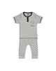 بی بی ناز ست تی شرت و شلوار نوزادی مدل 1501451-90 - طوسی - طرح ستاره