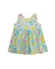 - پیراهن نوزادی کد 03 - سبزآبی - طرح پروانه رنگی