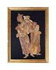 - تابلو سنگ معرق آویسا طرح لیلی و مجنون سایز 60 × 80