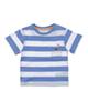 mayoral تی شرت نوزادی پسرانه مدل MA 1014077 - راه راه آبی و سفید